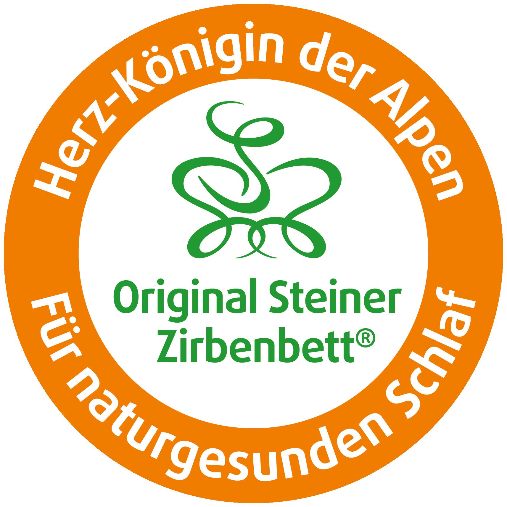 Siegel Original Steiner Zirbenbett - Herz-Königin der Alpen - für naturgesunden Schlaf